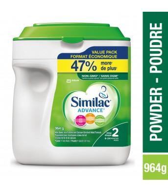 新!Similac雅培 2段二段婴儿奶粉964g/桶