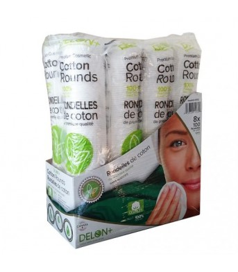 DELON 全棉双面化妆棉800片/袋  洁肤棉卸妆棉