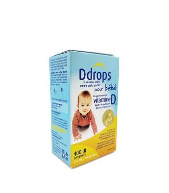 Ddrops 维生素D滴剂400IU2.5ml*90  exp:2023/02