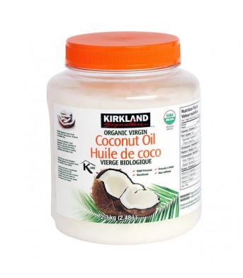 Kirkland柯兰 冷压初榨天然食用椰子油2.3KG/桶